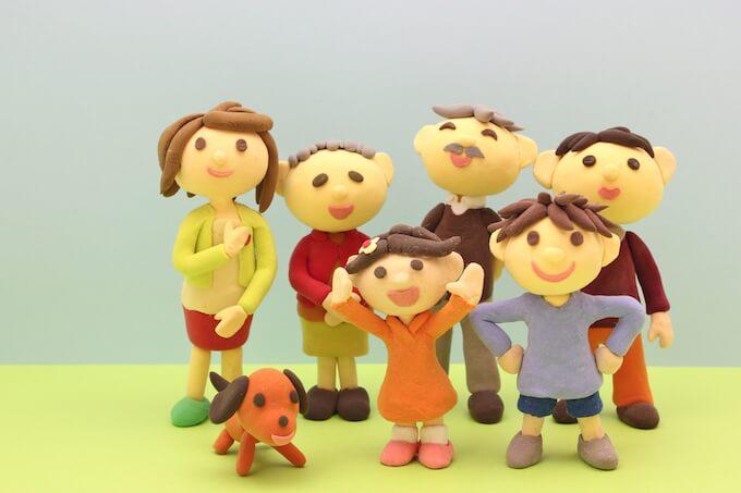 家族のミニチュアマスコット