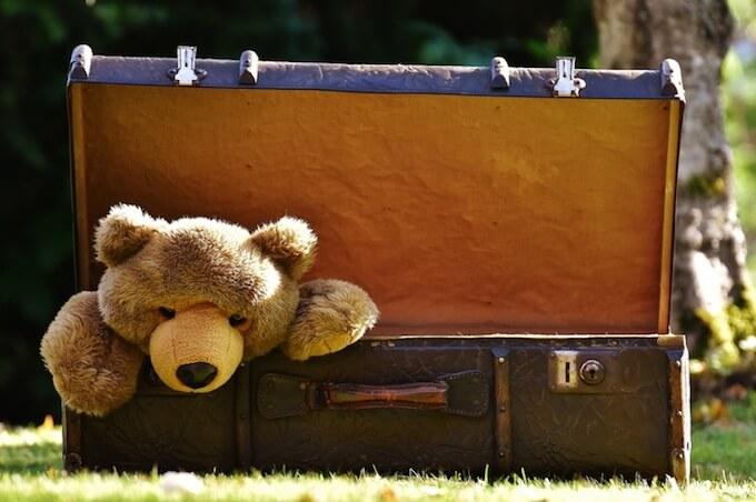 古い熊のぬいぐるみ